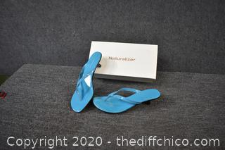 Naturalizer Blue Sandals w/box - size 11