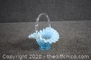 Opalescent Glass Basket