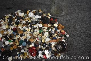 Jar and Buttons