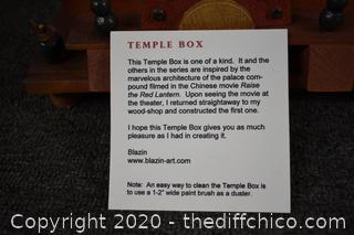 Signed Hand Made Temple Box