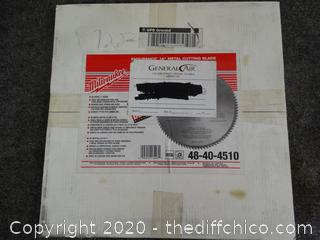 "Milwaukee Endurance 14"" Cutting Blade NIB"
