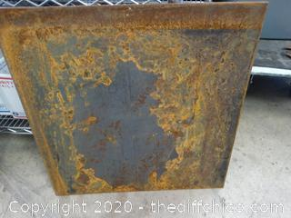 Carbon Steel Metal Plate 2' x2' x 1/2""