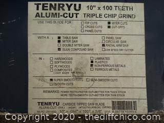 """NEW Tenryu Alumi-Cut Triple  Chip Grind 10"""" x 100 10th"""