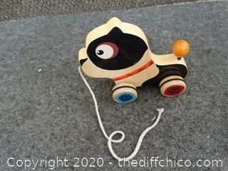 Rolling Wooden Dog