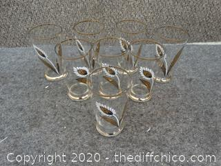 8 Decorative Glasses (Glass, not plastic)