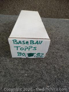 Baseball Topps Cards 1980 & 1982