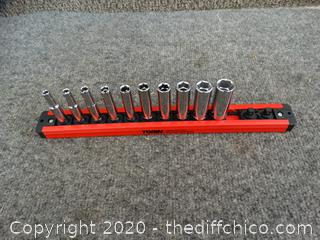 Husky Socket Set on Magnetic Lock & Twist Strip (see pictures)