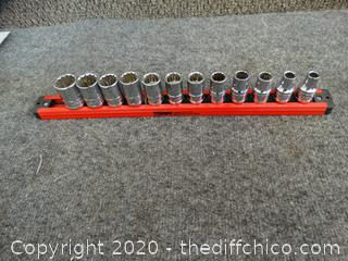 Husky Socket Set on Magnetic Lock & Twist Strip