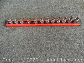 Husky Bit Sockets on Magnetic Twist & Lock Strip