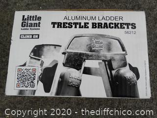 Little Giant Ladder Support System Trestle Brackets (New)
