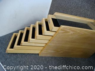 Wooden Multipurpose Organizer with Glass Top (see pictures)