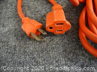 24' Orange Extension Cord