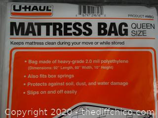 Queen Size U-Haul Mattress Bags (NIB)