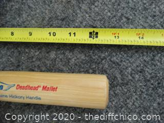 Estwing Deadhead Mallet w/ Genuine Hickory Handle  - Appears New
