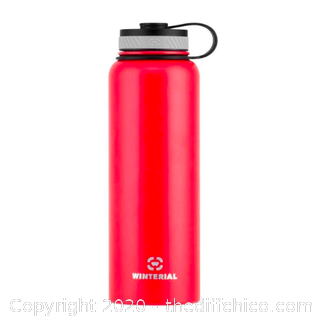 Winterial 40oz Stainless Steel Water Bottle - Red (J7)