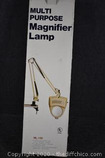 Multi Purpose Magnified Lamp w/box-looks unused