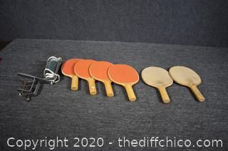 Ping Pong Paddles and More
