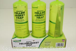 NEW Rescue Yellow Jacket Trap Reusable 3 pack