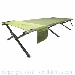 Heavy Duty Coleman-Easy Step Twin Trailhead Cot w/ Side Table,Up To 300lbs. & 6 Feet