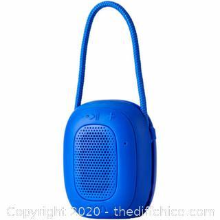 NEW ONN ONA18AA021 Water Resistant Portable Bluetooth Speaker - Blue