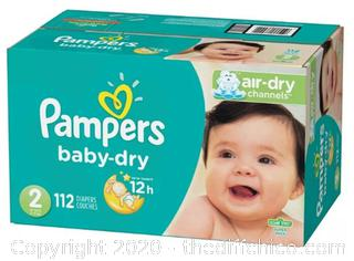 Pampers Baby Dry Diapers, Size 2, 112 Count, Super Pack