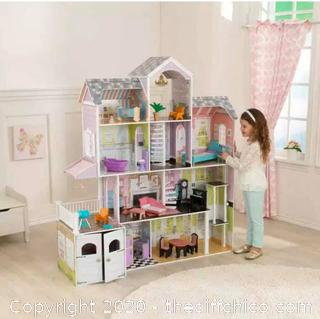 BRAND NEW ($179.99) KidKraft Grand Estate Wooden Girls Dollhouse 26 Pieces of Furniture