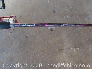 Shakespeare Lady Fish Fishing Pole
