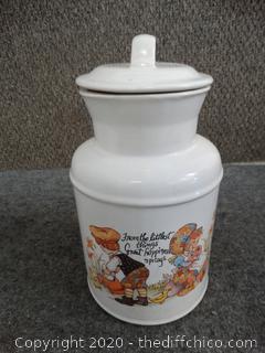 Kitchen Decor Jar w/Lid