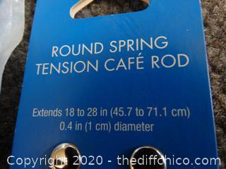 NIB Round Spring Rod & Curtain Rod