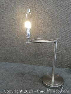 Working Adjustable Lamp - VERY Heavy, No Shade