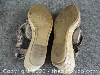 Libby Edelman Wedge Shoes Size 7.5W