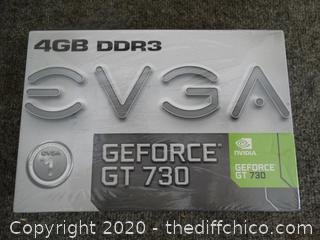 4GB DDR3 GE Force GT 730 Graphics Card - NIB