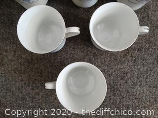 Fine Porcelain China Cup Set - Diane