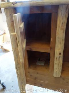 Handmade Redwood Bed Frame for Full/Double Bed