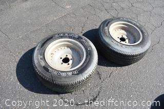 2 Tires - P255/60SR15