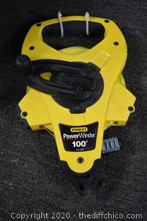 Stanley 100ft Power Winder Tape Measure
