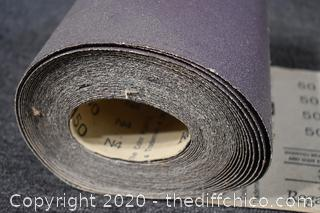 Roll of 50 Grit Sand Paper