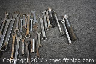 Mixed Lot of Wrenches and More