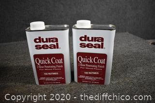 2 Dura Seal Quik Coat Floor Finish - Nutmeg
