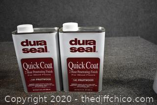 2 Dura Seal Quik Coat Floor Finish - FruitWood