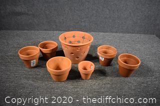 7 Terra Cotta Pots