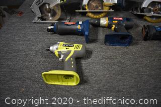 Ryobi Tools - no charger or batteries