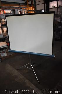 Folding Projector Screen