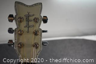 Esteban Rock On Collection Crystal Heart Guitar- Limited Edition w/case