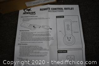 NIB Remote Control Outlet
