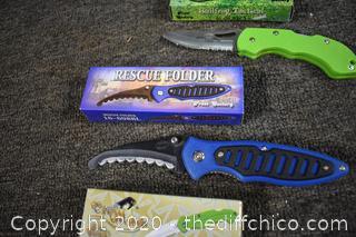 4 NIB Folding Pocket Knives