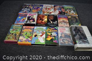 17 VHS Movies