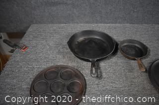 4 Pieces of Cast Iron Cookware