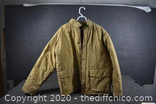 Golden Flee Coat size L - needs to be washed