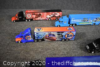 5 Toy Advertisement Semi Trucks